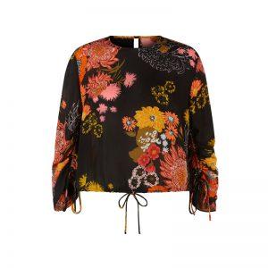 Bluse mit Retro-Blumen von Vero Moda