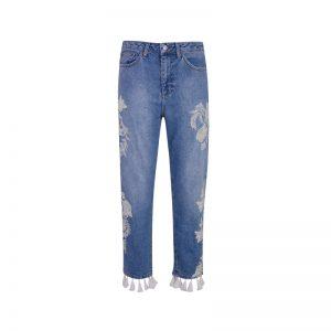 Jeans mit Quasten