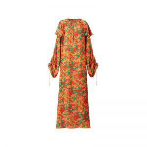 Kleid mit Retro-Blumen von Mango