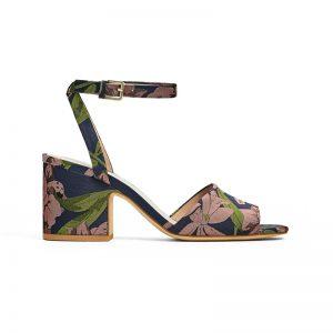 Sandale mit Blumen-Muster