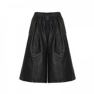 marks-and-spencer-culotte-schwarz-leder