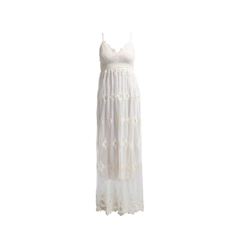 Kleider hippie lange weiße Hippiekleider