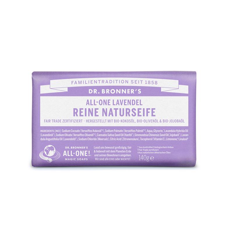 produktabbildung dr. bronner´s reine naturseife mit lavendel