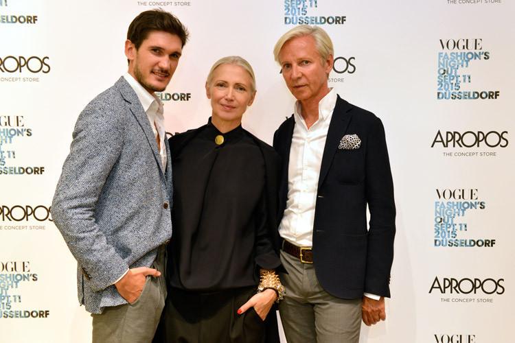 Lorenzo Caregnato (Sergio Rossi), Christiane Arp (VOGUE), Klaus Ritzenhöfer (Apropos)