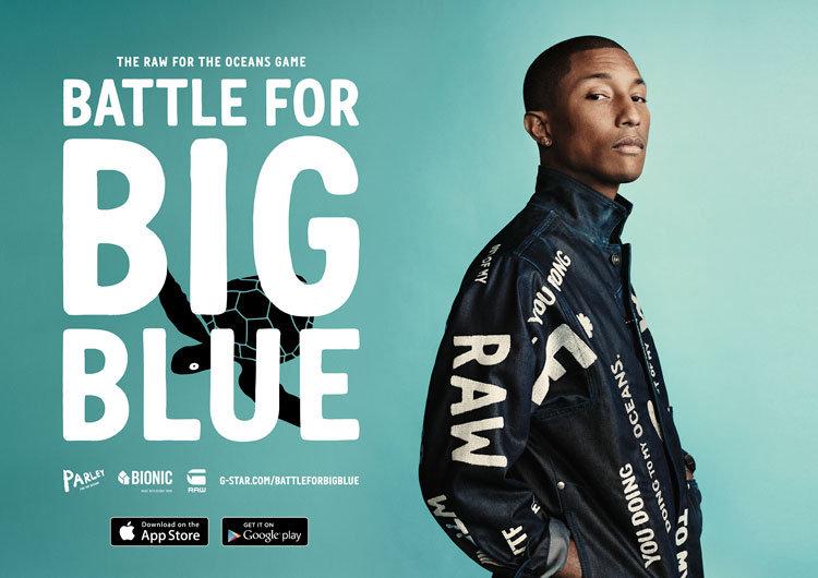 "© G-Star RAW, Pharrell Williams ""Battle for Big Blue"""