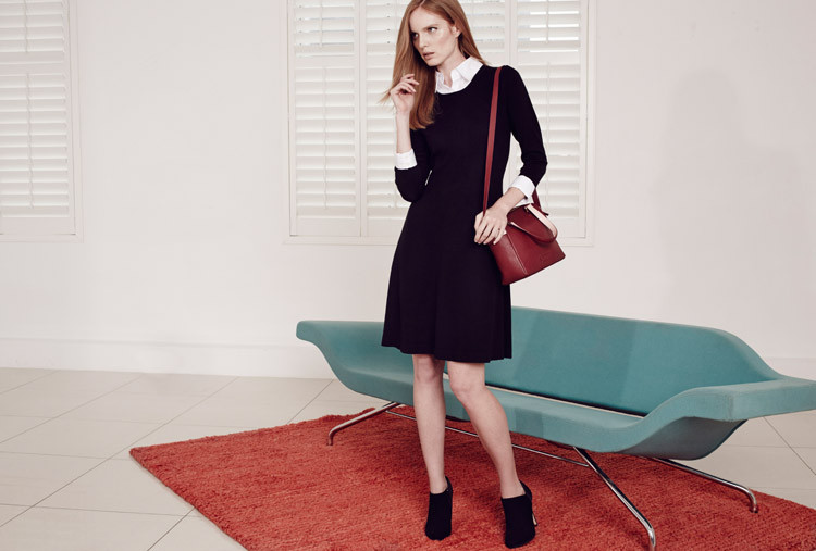 ©House of Fraser CUFF AND COLLAR KNIT DRESS, ca. 100 Euro