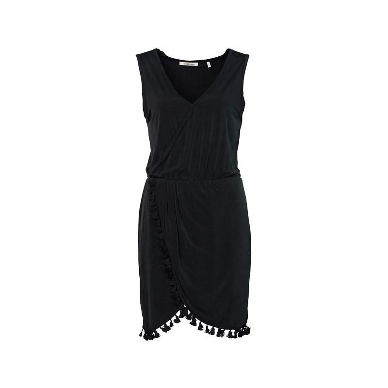 Kleid in Schwarz mit Spitze