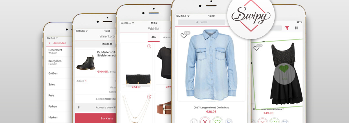 Swipy die Shopping App