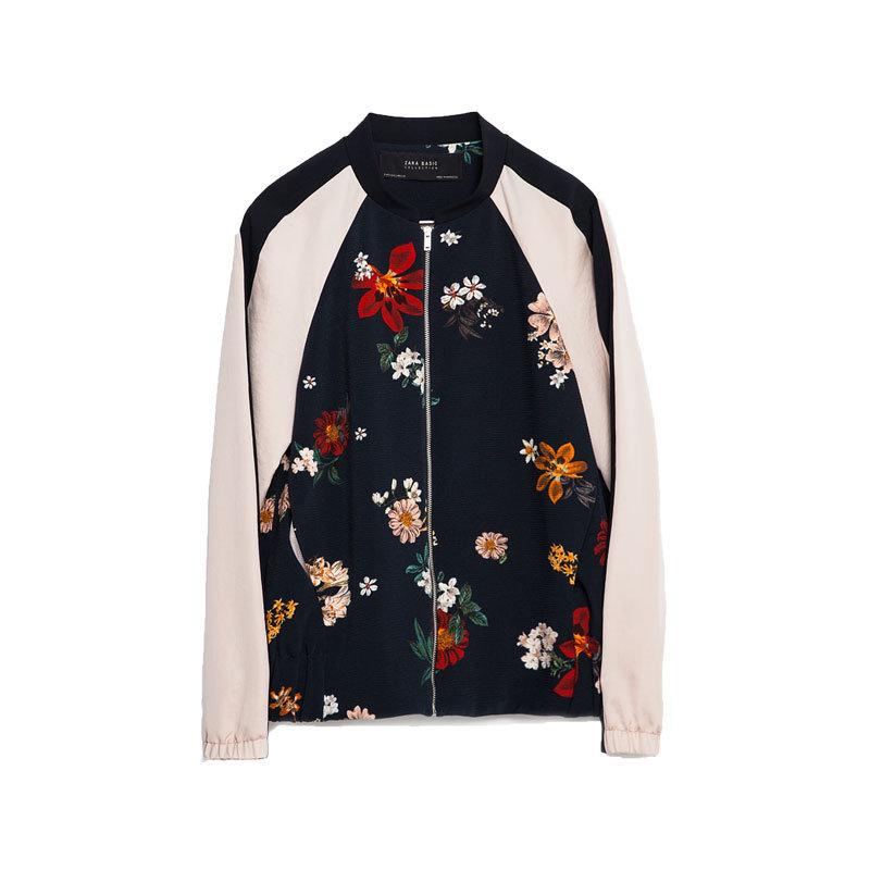 Blouson mit Blumen von Zara