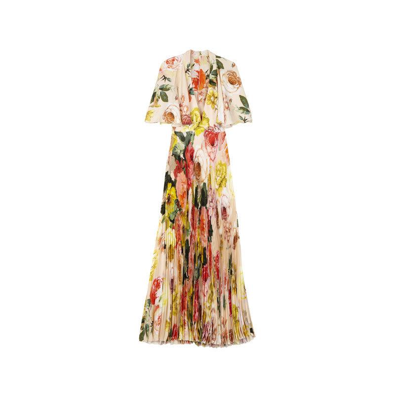 Langes Kleid mit Blumen von Asos