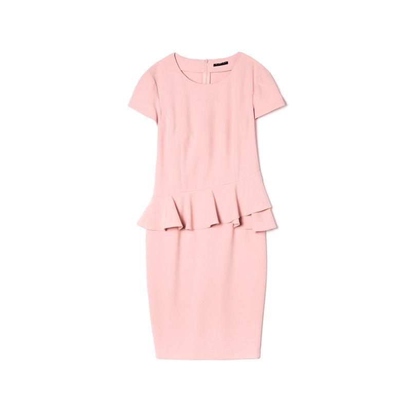 Kleid in puderrosa
