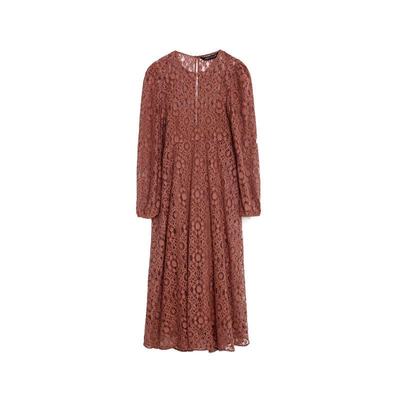 Kleid mit Spitze von Zara