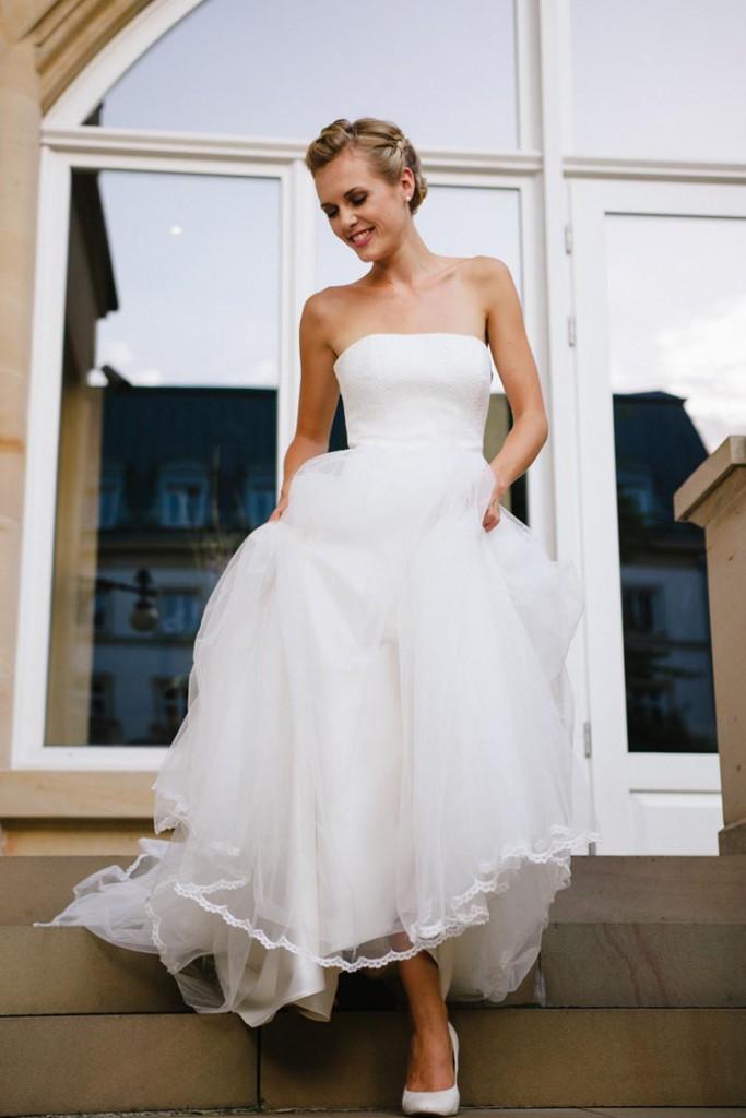 Brautkleid mit Tüll von küssdiebraut