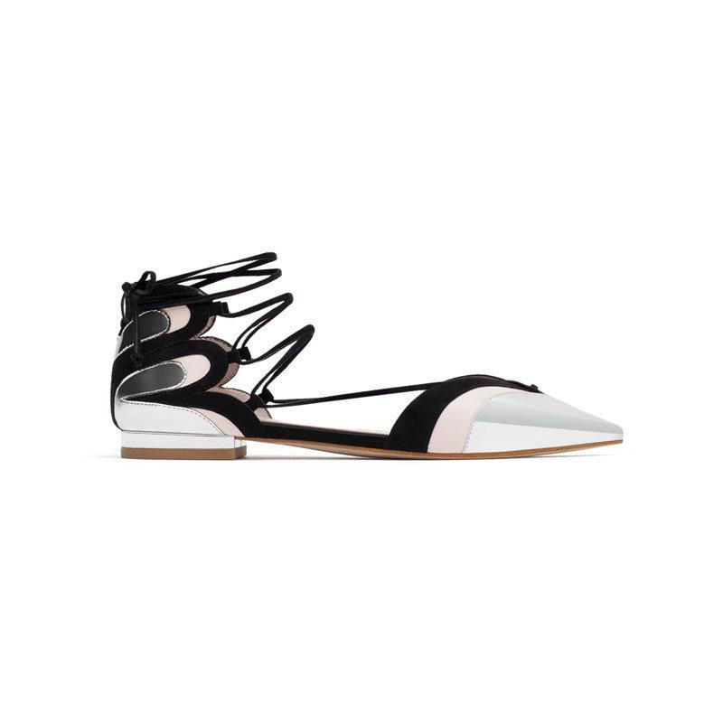 Silberne Sandale von Zara