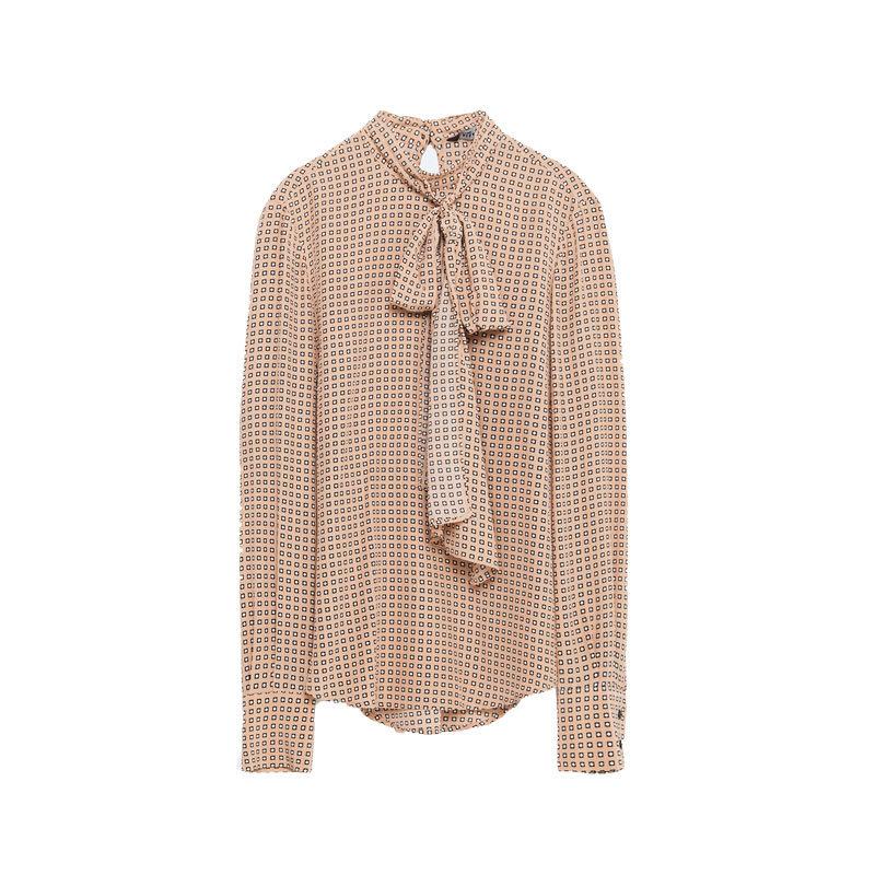 Bluse mit Schleife von Zara