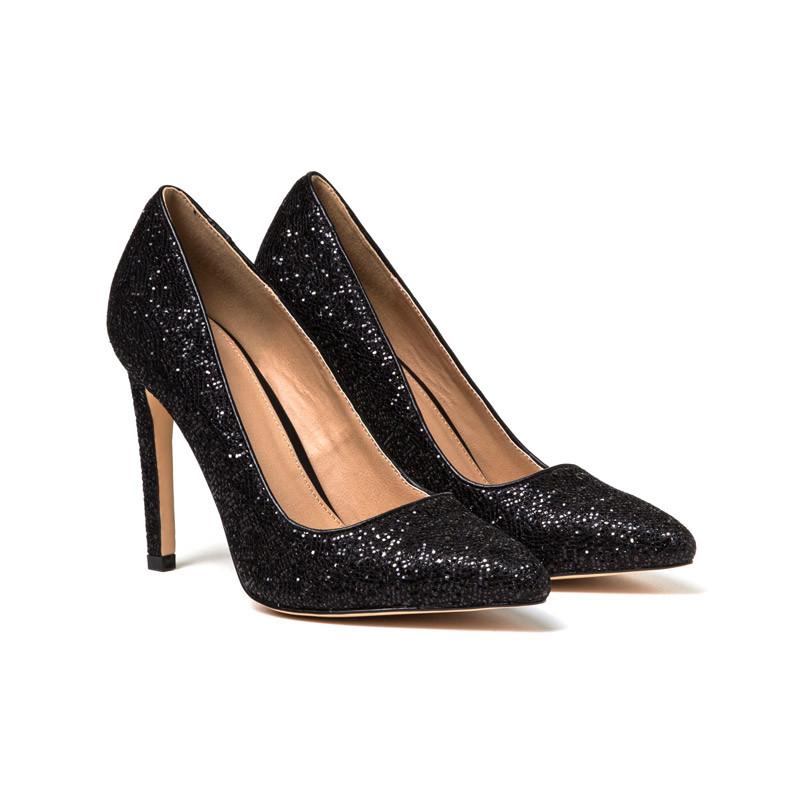 Schwarze Schuhe mit Glitzer
