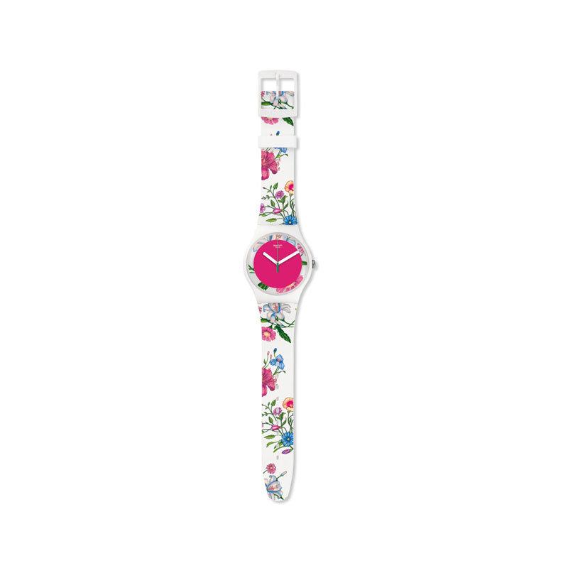 Uhr mit Blumen von Swatch