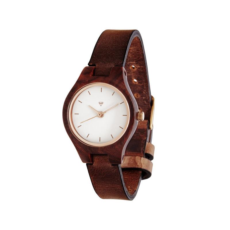 Uhr mit Leder
