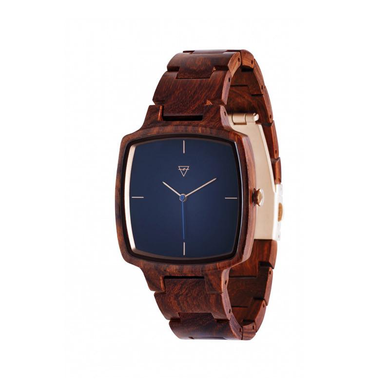 Kerbholz-Uhr aus Rosenholz