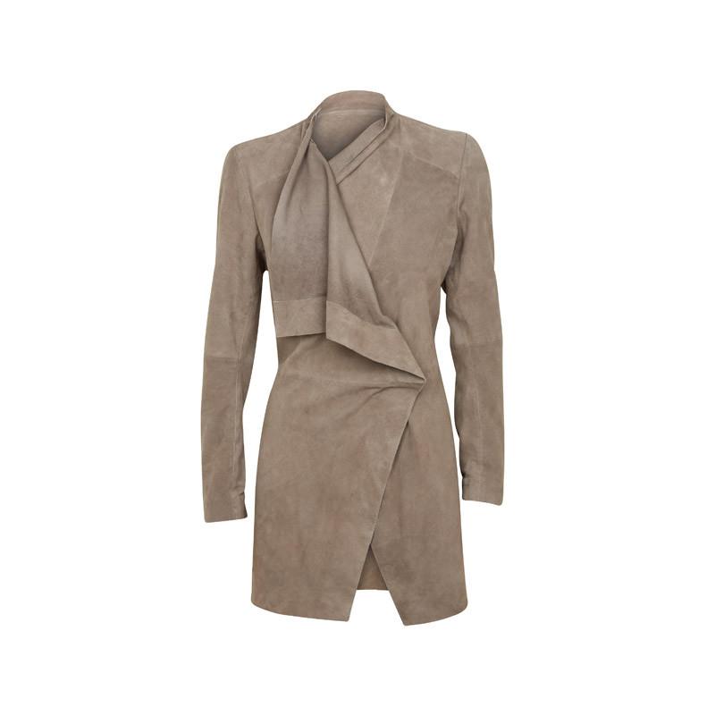 Mantel aus Velourleder