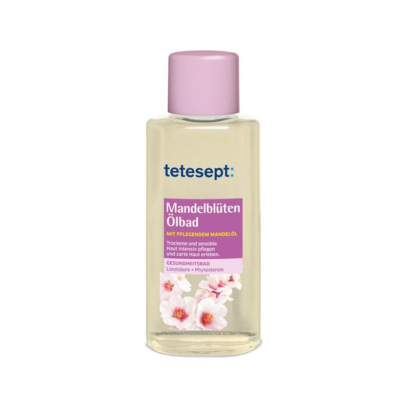 as Mandelblüten-Bad von ©tetesept pflegt trockene und gestresste Haut weich und geschmeidig. Ca. 6 Euro, über dm