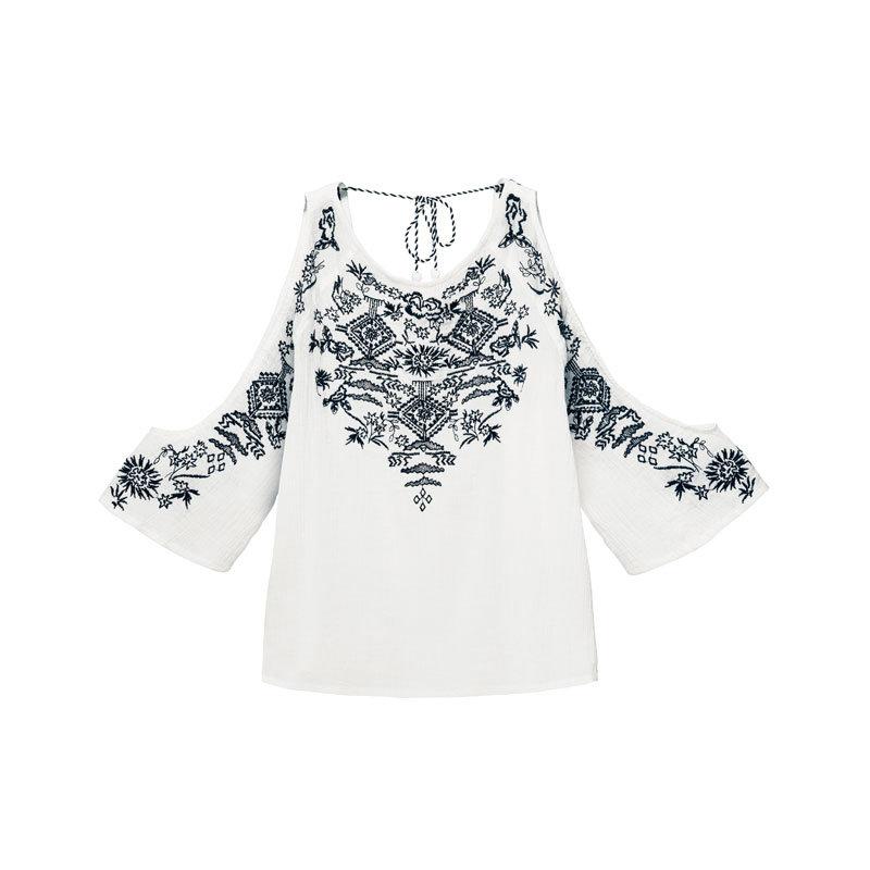 Schulterfreie Bluse von H&M