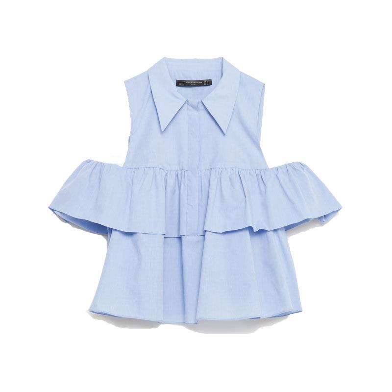 Bluse mit Cut-Outs von Zara