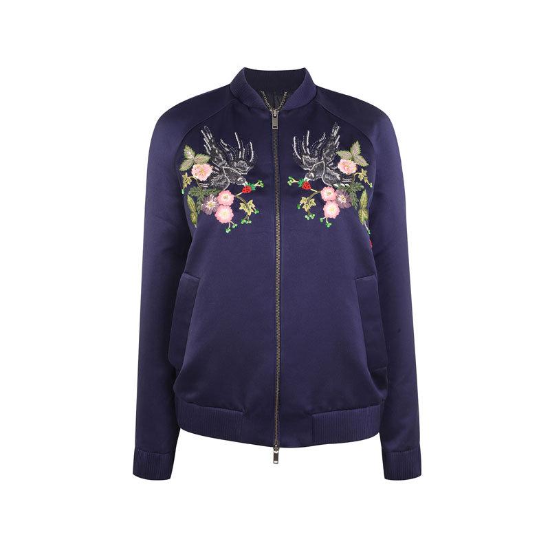 Blaue Souvenir-Jacke von Topshop