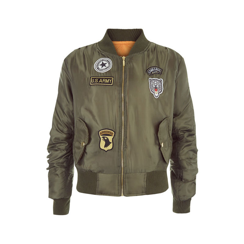Bomber jacke mit patches