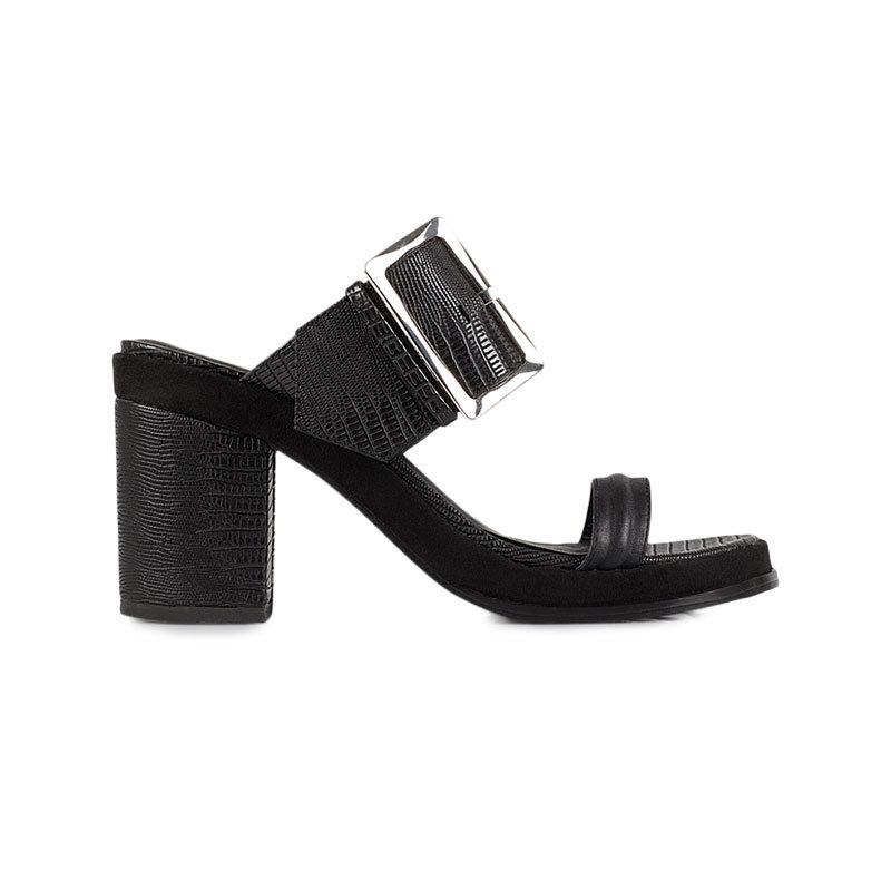 Schwarze Buckle Mules von NLY Shoes