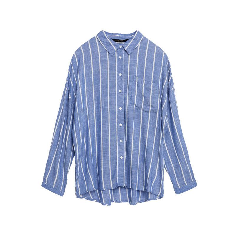 Hemd mit Streifen von Zara