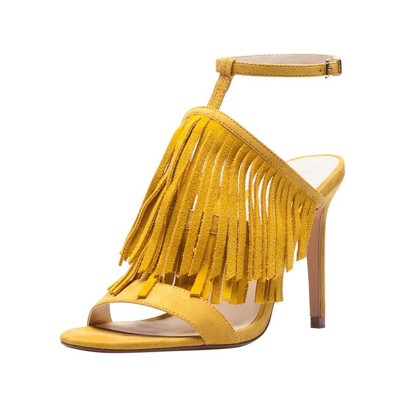 Gelbe High Heels von Bershka