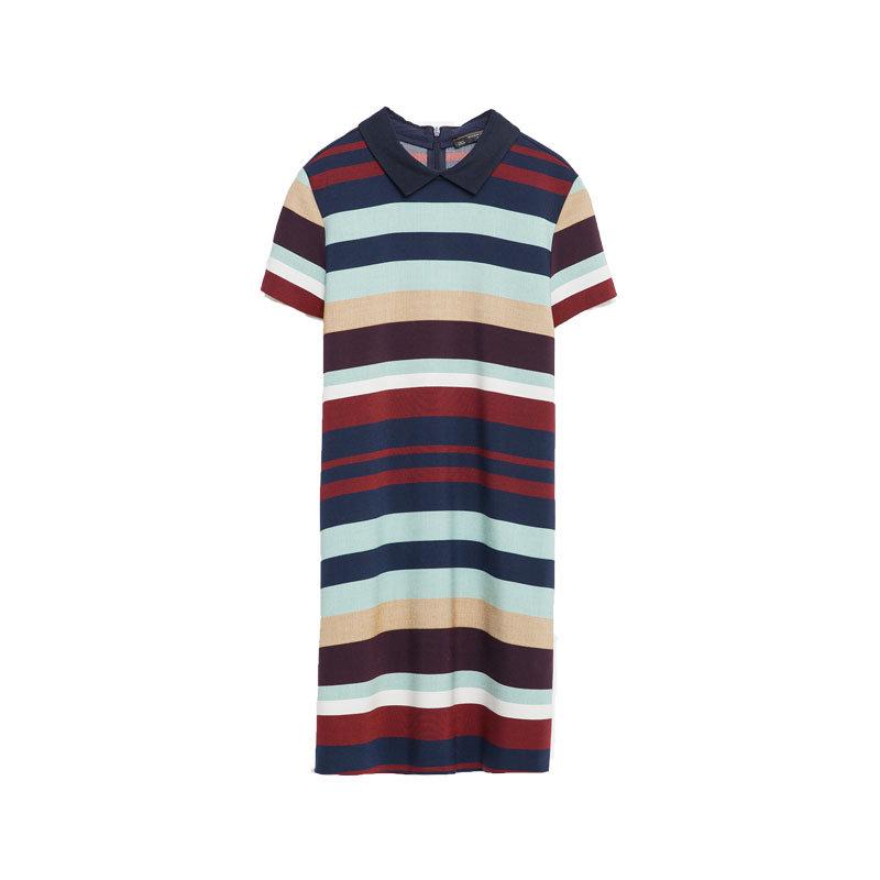 Kleid mit Blockstreifen von Zara