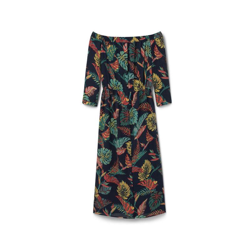 Schulterfreies Kleid von Mango