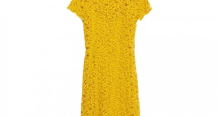 Zara kleid spitze gelb