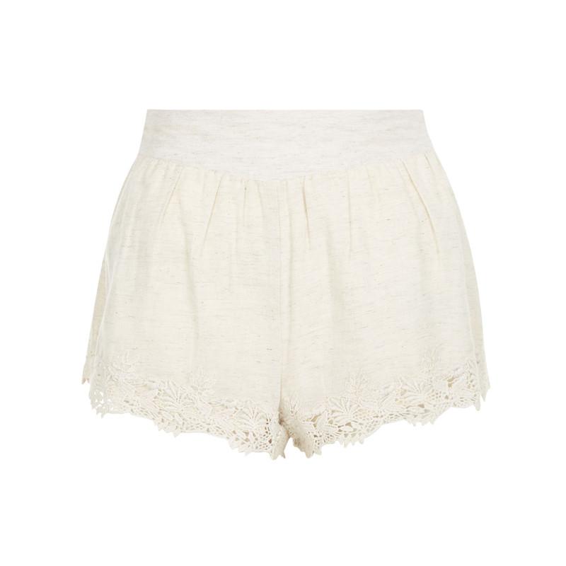 Spitzen-Shorts in Weiß