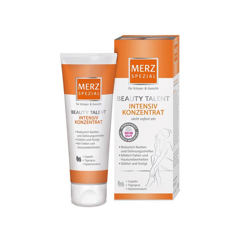 Das Körperöl von ©Merz Special nährt die Haut und versorgt sie mit Feuchtigkeit. Das macht sie widerstandsfähig gegen Risse im Gewebe durch dessen Ausdehnung. Ca. 12 Euro, über dm