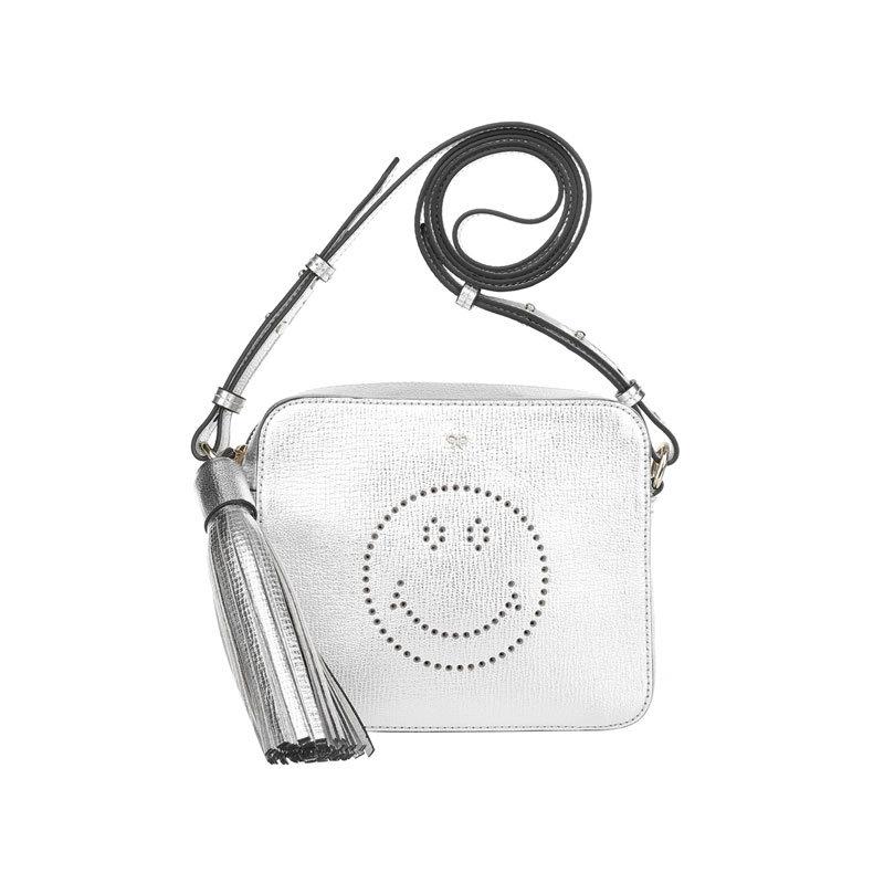 Silberne Mini-Bag von Anya Hindmarch