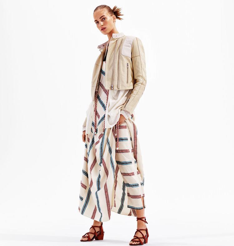 Kleid mit Blockstreifen von H&M
