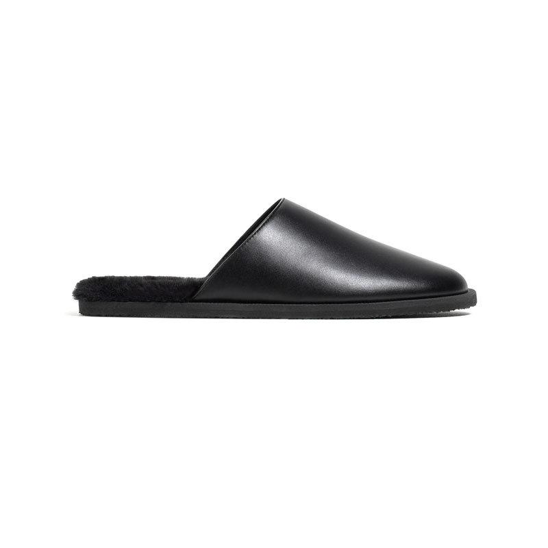 Schwarze Pantoffeln von Zara