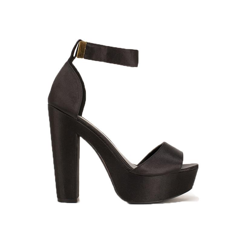Sandalette aus Satin