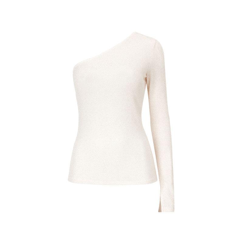 Weisses schulterfreies Shirt von Gina Tricot
