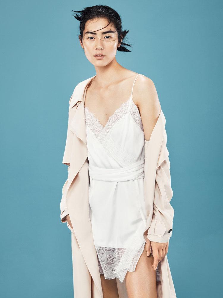 Weisses Slip Dress von Mango