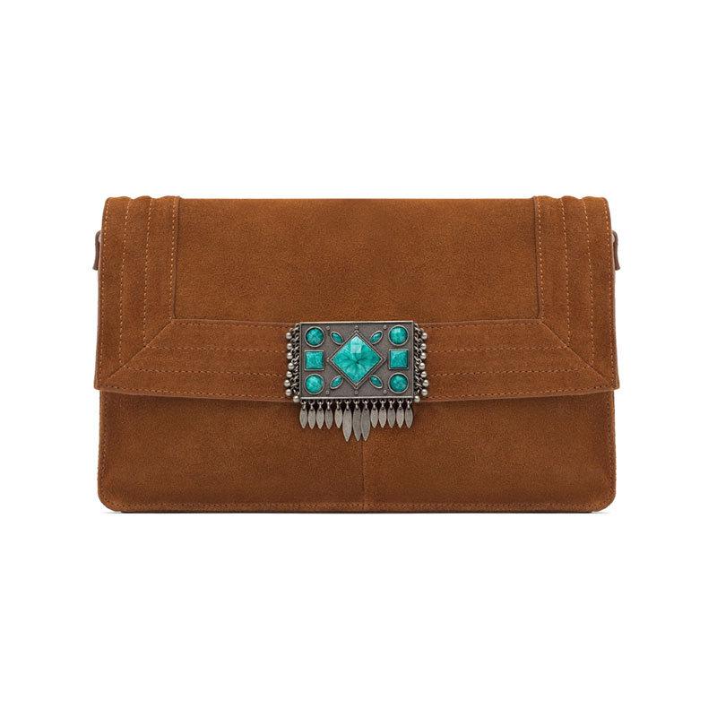 Braune Mini-Bag von Zara