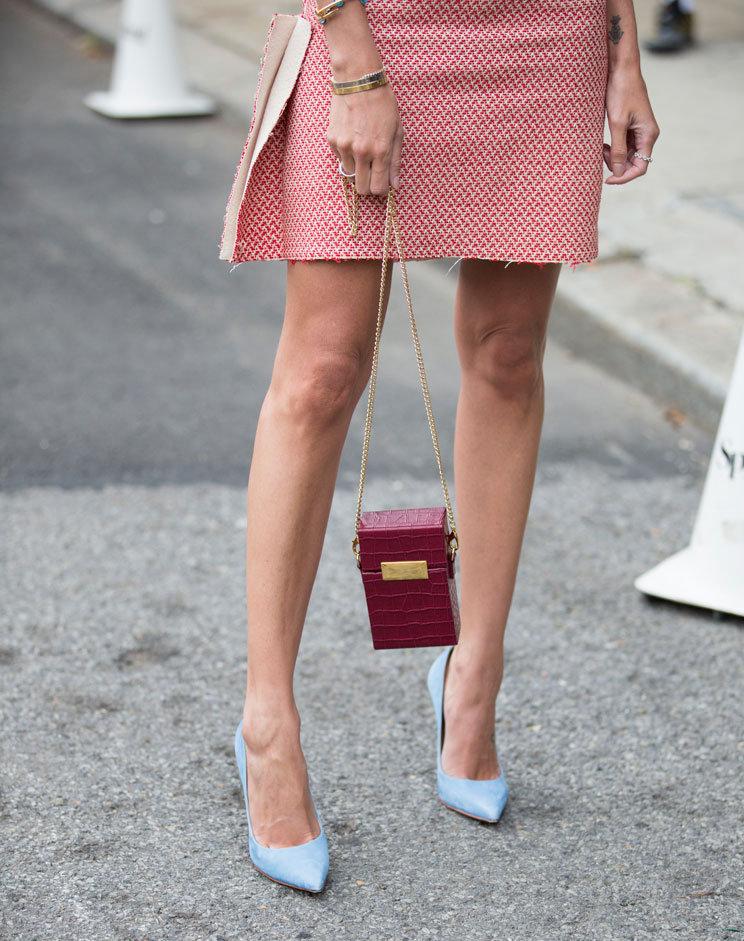 Kleine Tasche auf der Fashionweek