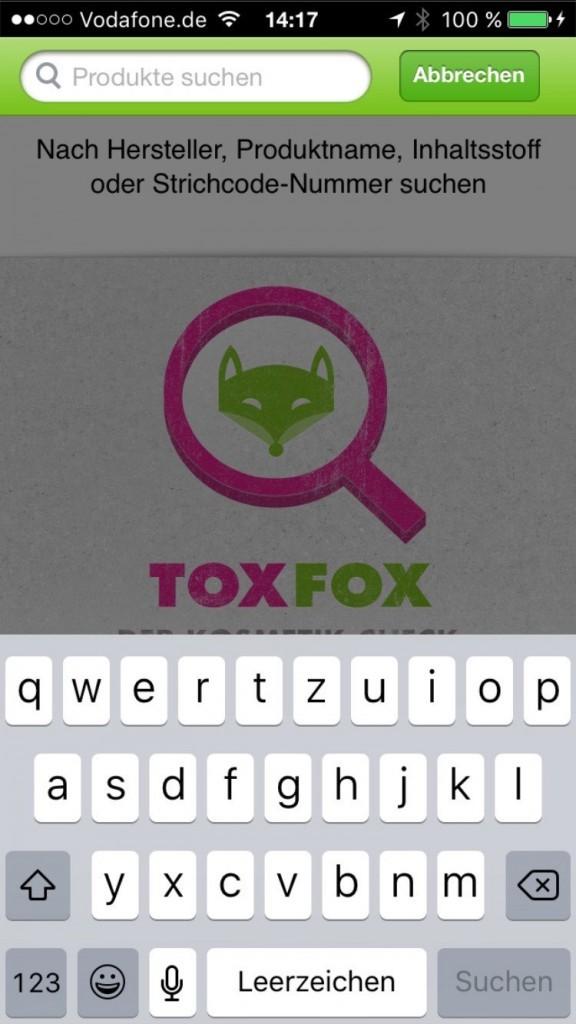 Suche bei ToxFox