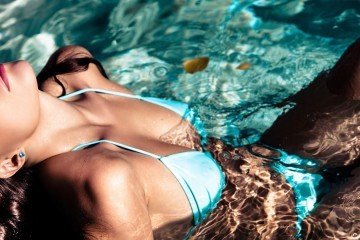 bademode bikini blau