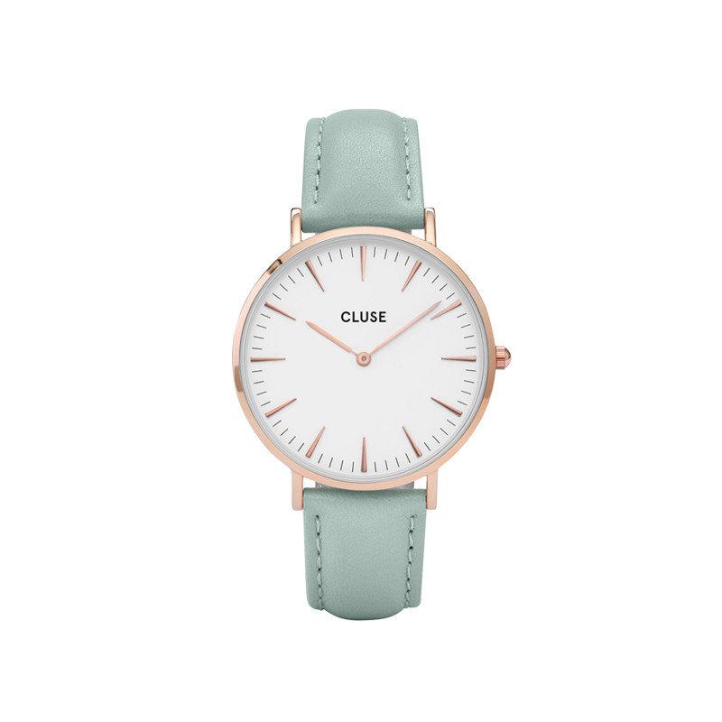 Uhr von Cluse in Mint-Grün
