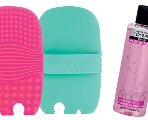 Pinselreiniger Pad und Shampoo