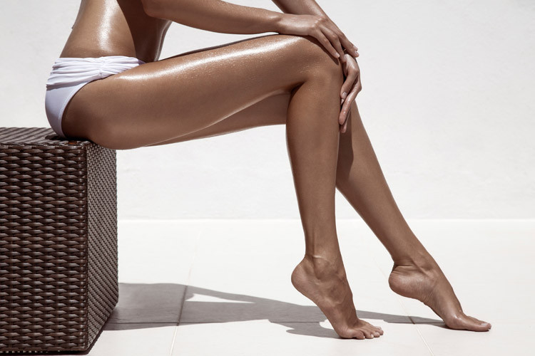Selbstbräuner Beine